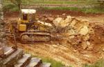 Le Domaine en travaux | construction de la cave en 1975